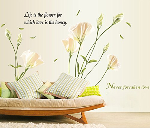 lily-flowers-wall-sticker-on-the-wall-vinyl-wall-stickers-gome-decor-bedroom-backdrop-wall-decals