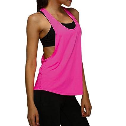 KOERIM Mujer Camiseta de Fitness Deportiva de Tirantes,Yoga ...