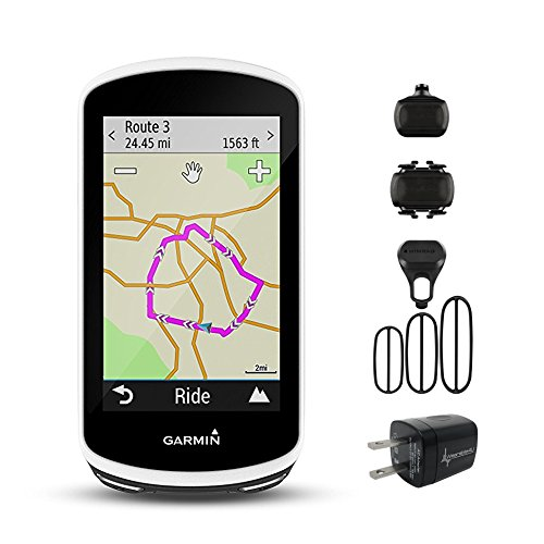 Garmin Edge 1030 GPS Cycling Computer 010-01758-00 and Garmin Bike Speed Sensor and Cadence Sensor 010-12104-00 Bundle