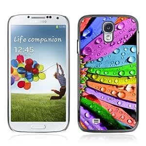 CQ Tech Phone Accessory: Carcasa Trasera Rigida Aluminio Para Samsung Galaxy S4 i9500 - Cool Colorful Flower Art