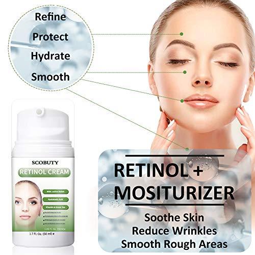 511bAHs28gL - Retinol Cream,Retinol Moisturizer Cream,Retinol Day Night Cream,Anti Aging Cream with Active Retinol Hyaluronic Acid for Face Eye Area Wrinkles Fine Lines Firming Skin