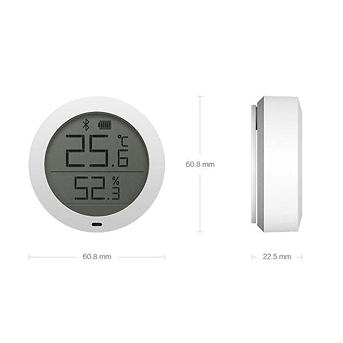 LayOPO Termómetro de Interior Higrómetro Digital, para Xiaomi Mijia Sensor de Humedad de Temperatura Bluetooth con Pantalla LCD Remota Ver en Mi Home: ...
