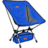 Folding Camping Chairs Trekology YIZI GO Portable Camping Chair with Adjustable Height - Compact Ultralight Folding Backpacking Chairs in a Carry Bag, Heavy Duty 300 lb Capacity, for Hiker, Camp, Beach, Outdoor