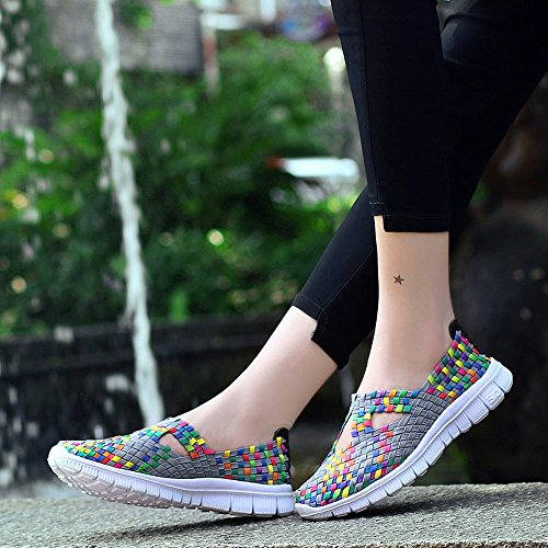 Sneakers Zapatillas Gimnasio Correr para Gris Deportivas Running Transpirables de Zapatos Deporte Deporte Zapatillas para Casual de Mujer Se ora wpq07x8g