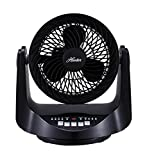 Hunter FSQ-MF09F-B Whole Room Table Fan - Black (Room Fan)