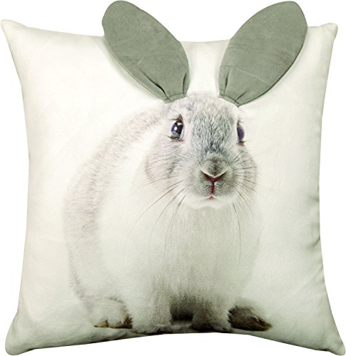Manual Woodworkers ArtFuzz 3D Bunny Printed Pillow 18