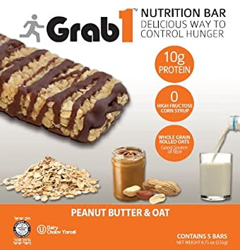 Amazon.com: grab1 Protein Bar Mantequilla Avena 5 Count ...