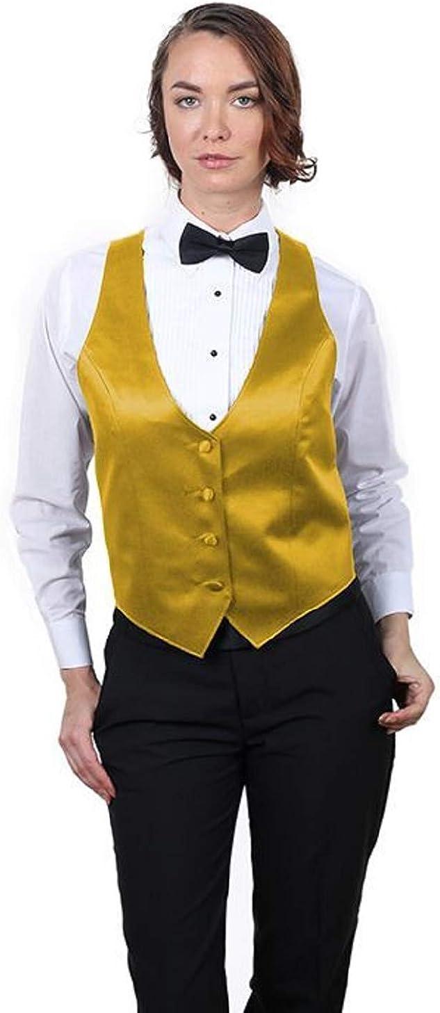 SixStarUniforms Women's Formal Business Suit Satin Fashion Vest