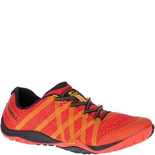 Merrell Men's Trail Glove 4 E-MESH Sneaker, Saffron, 9 M US