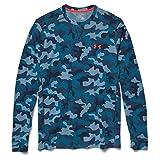 under armour all season gear - Under Armour Men's UA Amplify Camo Thermal Crew Solder/Bolt Orange/Academy T-Shirt LG