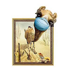 DIY 3d Creative Funny Camel Removable Vinyl Wallpaper Wall Decor