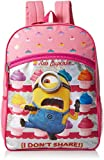 Despicable Me Girls' Universal Cupcake Front Zipper Pocket 16 Inch Backpack, Pink Review