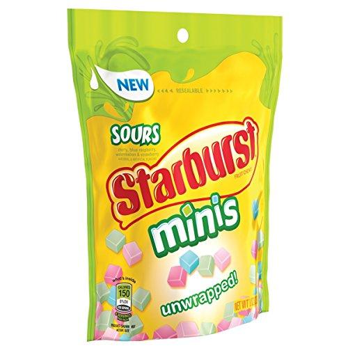Starburst Sours Minis Fruit Chews Candy Bag, 8.0 Oz
