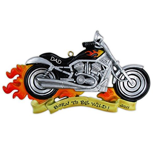 Grantwood Technology Personalized Christmas Ornaments Hobbies/Activities-Harley Motorcycle/Personalized by Santa/Motorcycle Christmas Ornament/Harley Ornaments/Motorcycle Ornament
