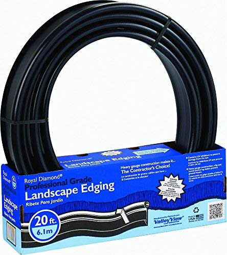 Royal Diamond PRO-20 20-Foot Professional Black Landscape Edging Valley View Industries