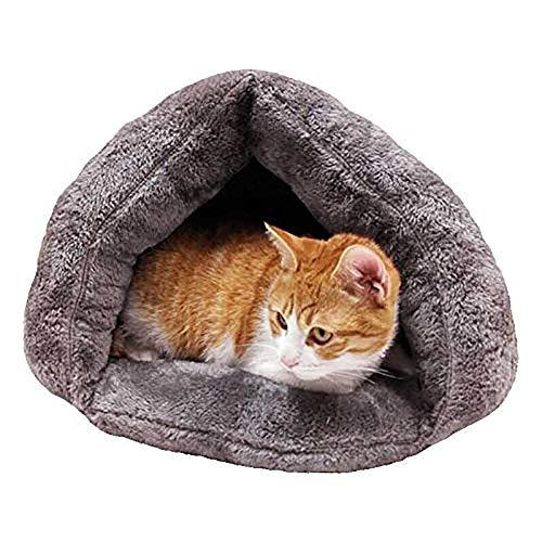 Diuspeed Gato Saco de Dormir, Nido de Pet Manta Saco Gato Cama Manta Cueva Suave cálido Verdickte Mascotas Cama House para Perro Gato Gatito Peluche Saco de ...