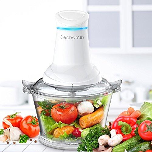 Elechomes CF201 Meat Grinders Electric Processor Vegetable Glass Bowl, Kitchen Food Chopper Multipurpose Blender Mincer, 1.8L