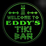 4x ccpm0672-g EDDY'S Tiki Bar OPEN Mask Bar Beer 3D engraved Coasters