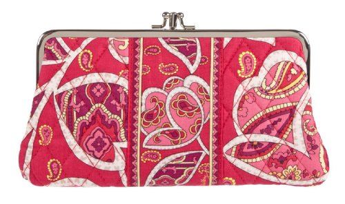 Vera Bradley Clutch Wallet in Rosy Posies, Bags Central