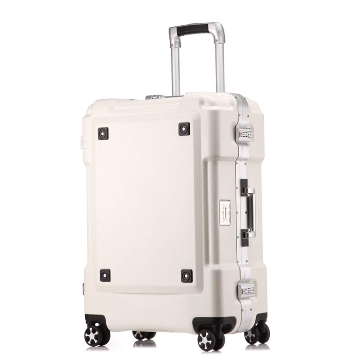 ABS + PC旅行はトロリー小屋で運びます、軽量の堅い貝360°の紡績車の車輪旅行握りましたチェックイン荷物スーツケース,white,29inch 29inch white B07QQR195B