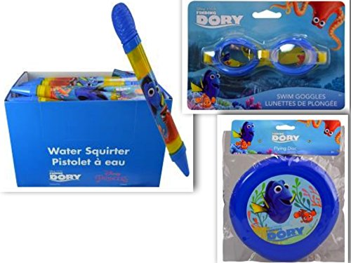 [FAVORITE Finding Dory Disney Beach and Pool 3 Piece Swim & Playdate Bundle: 3 Items- Water Blaster, Flying Disc, & Splash] (Tinker Bell Child Tiara)