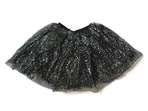[Rush Dance Ballerina Dress-Up Sparkling Glitter Costume Recital Tutu (One Size,Black)] (Princess Glitter Costumes)