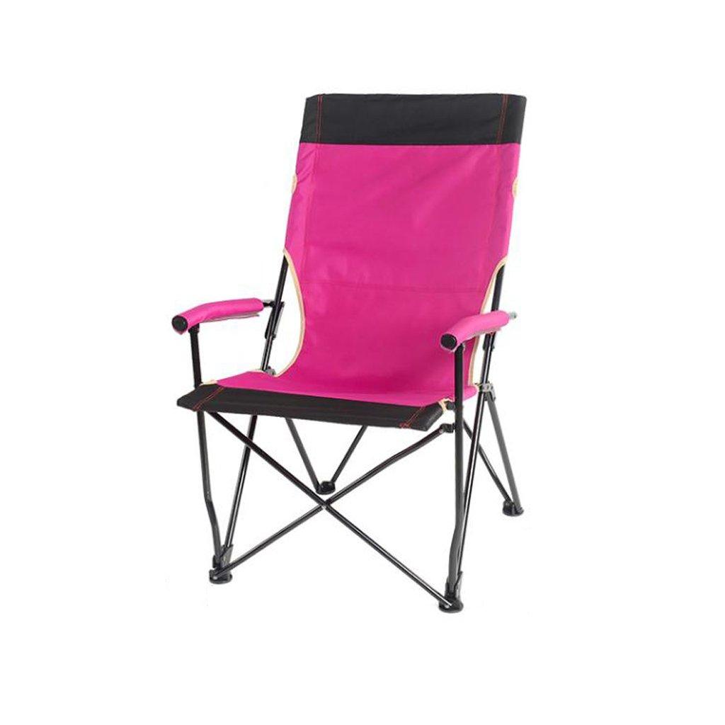 最高級のスーパー 椅子 折りたたみ椅子屋外ビーチ便利なレジャー釣り背もたれ大人スケッチキャンプバーベキューチェアピンク B07DK441MH B07DK441MH, 1make:99b964ef --- cliente.opweb0005.servidorwebfacil.com