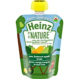 Heinz by Nature Organic Baby Food - Pear, Butternut Squash & Kale Purée - 128mL Pouch (Pack of 6)