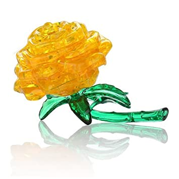 3d Crystal Cube Jigsaw Model Diy Rose Iq Toy Gift Gadget Yellow Last Style Toys & Hobbies Puzzles