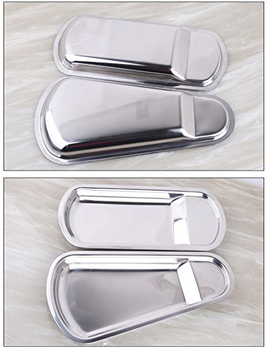 iecool Thick Stainless Steel Metal Square Fan-shaped Tray Silver Sector by iecool (Image #4)