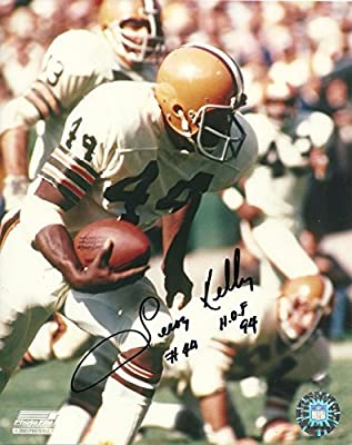 LEROY KELLY CLEVELAND BROWNS SIGNED AUTO 8x10 PHOTO W/COA HOF 94