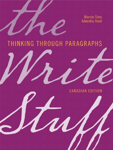 The Write Stuff: Thinking through Paragraphs, Canadian Edition