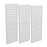 2' X 6' Gridwall Panels - 3 Pcs Box - Grid Wall Display Chrome