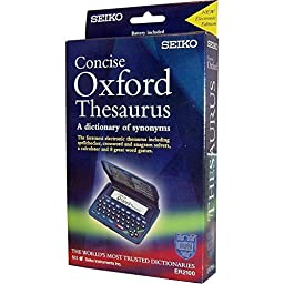 Seiko Concise Electronic Oxford Thesaurus and Spellchecker with 8 Word Games NEW Digital Oxford English Spell Checker & Thesaurus