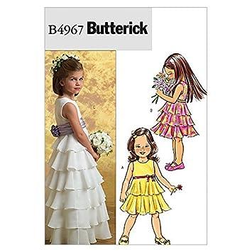 Butterick Schnittmuster 4967 – Festliche Kleider & Band Alter für ...