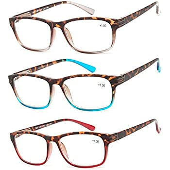 16a4e48df9 Reading Glasses 3 Pair Great Value Stylish Readers Fashion Men and Women  Glasses for Reading +