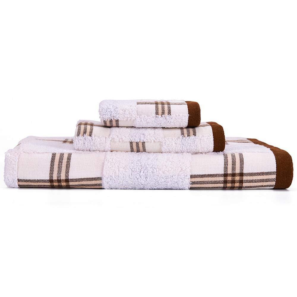 Hjyi Toalla, Toalla Suave Toalla Absorbente rápido Seca de la Cara de algodón Deportes baño Toalla Secado rápido de Toallas (3 Piezas) 36x34cm + 1, ...