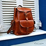 WOMEN LEATHER BACKPACK from Real Full Grain Leather
