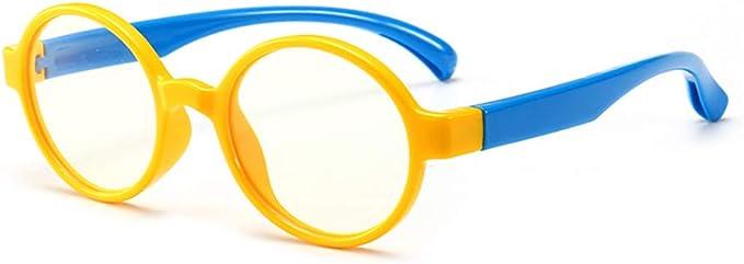 Junkai Ragazze Ragazzi Occhiali da vista Rotondi occhiali anti luce blu per computer//giochi per PC//TV//telefono cellulare//occhiali da lettura ka18083006