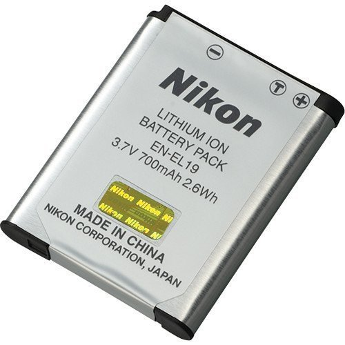 Genuine Nikon EN-EL19 3.7V 700mAh Battery Pack for S2500 / S63100 / S4100 + More (Nikon Rechargeable Batteries compare prices)