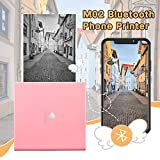Phomemo M02 Portable Pocket Printer- Mini Bluetooth Wireless Thermal Sticker Printer Compatible with Android iOS for Instantly Print Fun, Retro-Style Photos, Mini Life Assistant, Good Gift, Pink