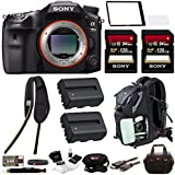 Sony a99II 42.4MP Digital SLR Camera with 3 LCD, Black (ILCA99M2) Bundle
