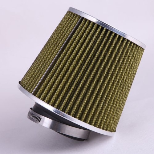 Turbo 3' Inlet (Fastwayracer AF6-3-Y, Universal High Performance Olive 3'' Inlet Cone Dry Flow Air Filter Oil Free)