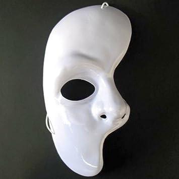 La mitad de la máscara de la ópera de la bola blanca de la máscara veneciana