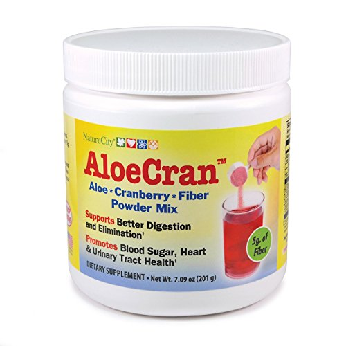 AloeCran Sugar Free Drink Mix – Simple Ingredients - Certified Organic ActiveAloe®, PACran® Cranberry, NON-GMO Fibersol®-2 fiber, and Only 10 Calories Per Serving – 30 Servings – (1 (Serving Unit)