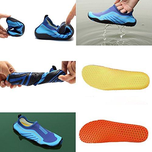 Anluke Water Schoenen Barefoot Yoga Sokken Instapper Voor Heren Dames Kids Zwart / Geel