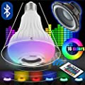 Light Bulb with Bluetooth Color Changing Features/Smart Audio LED Multicolored Changing Lamp with Wireless Speaker/ great for outdoor or indoor use for Parties, Bars, DJs, Nightlight from Gvision