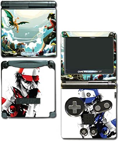 Mt Silver Red Special Edition Blue Pikachu Charizard Blastoise Video Game Vinyl Decal Skin Sticker Cover for Nintendo GBA SP Gameboy Advance System