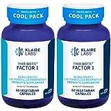 Klaire Labs Ther-Biotic Factor 1 Probiotic - 20 Billion CFU Lactobacillus rhamnosus with Inulin, The Original Hypoallergenic Probiotic for Men & Women, Dairy-Free Gut Support (60 Capsules, 2 Pack)