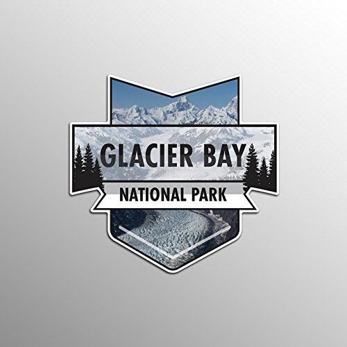 2-Pack Glacier Bay National Park Decal Sticker | 4.7-Inches By 4.4-Inches | Premium Quality Vinyl Sticker | UV Protective Laminate | PD933